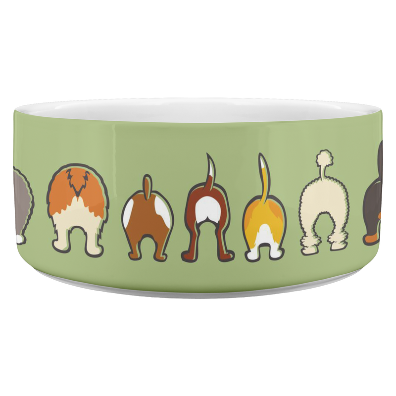 Happy Tails Dog Bowl - Green