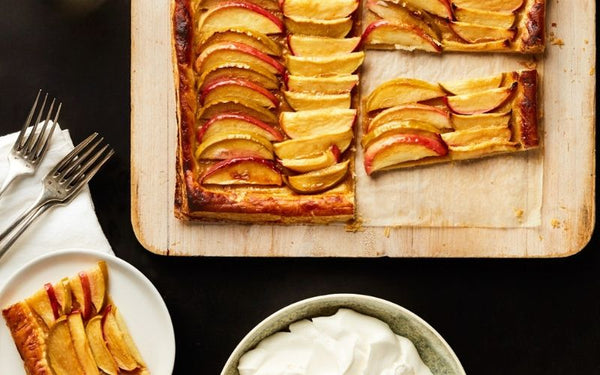 easy apple and caramel tart