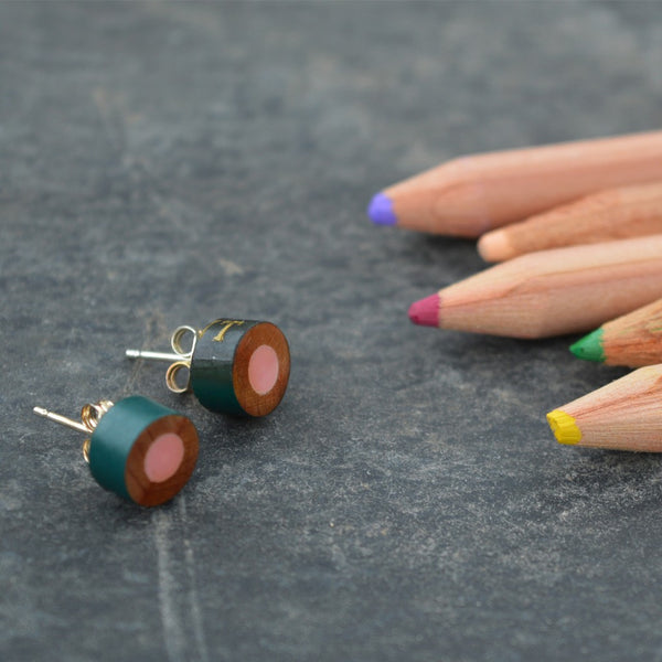 Stud pencil earrings