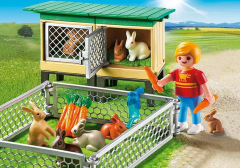 playmobil rabbit with hutch