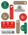 Christmas Stickers - Round