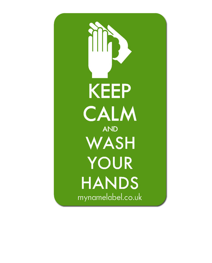 Keep Calm & Wash Your Hands Sticker - Lime