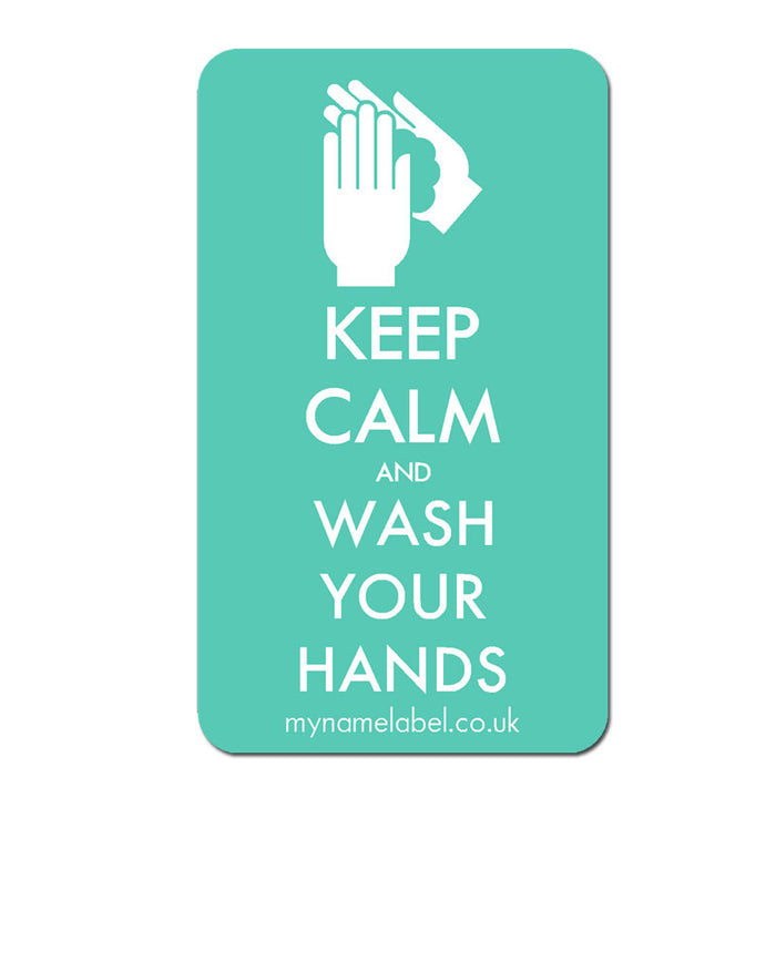 Keep Calm & Wash Your Hands Sticker - Mint
