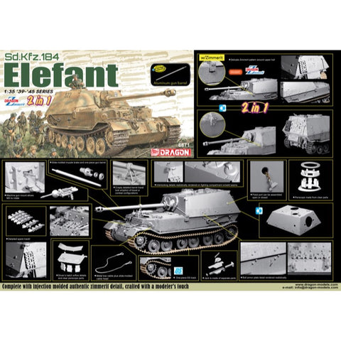 Dragon 1/35 Sd.Kfz. 184 Elefant (2 in 1)