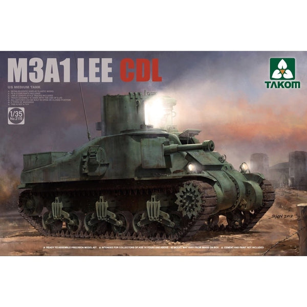 Takom 1/35 US M3A1 Lee CDL Medium Tank