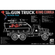 AFV 35323 1/35 Gun Truck King Cobra M54 + M113 Plastic Model Kit