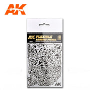 AK Interactive AK9079 Flexible Airbrush Stencil 1/20 1/24 1/35