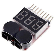 AOK Li-Po Tester 1-8S Battery Voltage Tester Low Voltage Buzzer Alarm