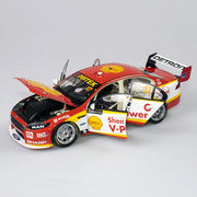 Authentic Collectables ACD18F17A 1/18 Shell V-Power Racing Team No. 17 Ford FGX Falcon Supercar 2017 Sandown 500 Retro Round Drivers Scott McLaughlin / Alexandre Premat Diecast Car