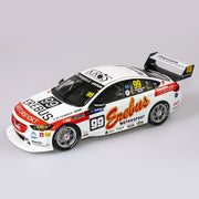 Authentic Collectables ACR18H18L 1/18 Erebus Motorsport No. 99 Holden ZB Commodore Supercar 2018 Sandown 500 Retro Round Drivers Anton DePasquale / Will Brown Diecast Car