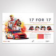 Authentic Collectables 17 for 17 The Most Championship Race Wins in DJR/DJRTP History Print ACP021