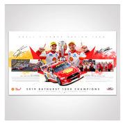 Authentic Collectables ACP026 Shell V-Power Racing Team 2019 Bathurst 1000 Champions Signed Limited Edition Print ACP026