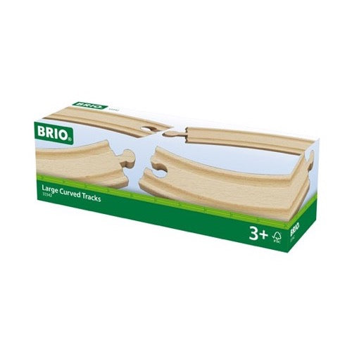 BRIO Large Curved Tracks 4pc