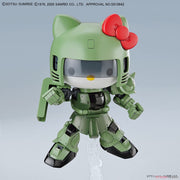 Bandai 50610301 Hello Kitty/Zaku II SD Gundam Cross Silhouette