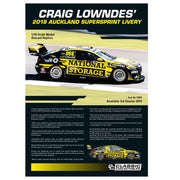 Classic Carlectables 18684 1/18 Holden ZB Commodore Craig Lowndes 2018 Auckland Supersprint Livery