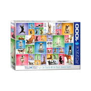 Eurographics 60954 1000pc Yoga Dogs Puzzle