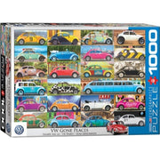 Eurographics VW Beetle Gone Places Puzzle 1000pc