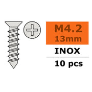 G-Force 0276-010 Selftapping Countersunk Screw 4.2x13 Inox (10pcs)