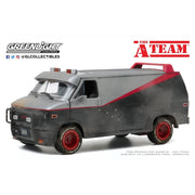 Greenlight 84112 1/24 A Team 1983 GMC Vandura Weathered Version with Bullet Holes Movie Diecast Car