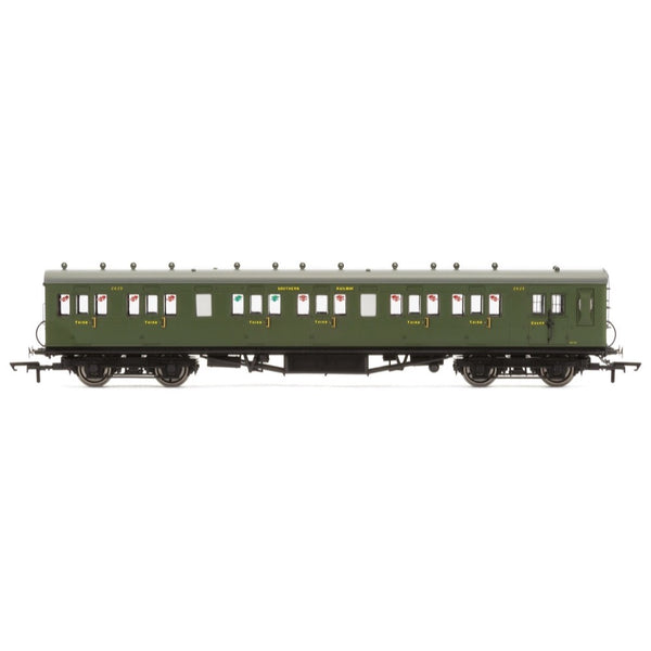 Hornby OO SR 58 Maunsell Rebuilt (Ex-LSWR 48) Six Compartment Brake Third 2625 Era 3