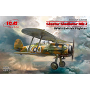 ICM 32040 1/32 Gloster Gladiator Mk.I WWII British Fighter Plastic Model Kit