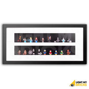 Light My Bricks 2 Tier Minifigure Display Case