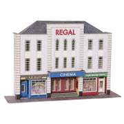 Metcalfe PO206 OO/HO Low Relief Cinema and 2 Shops Card Kit