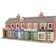 Metcalfe PO272 OO/HO Low Relief Red Brick Shop Fronts Card Kit