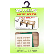 Metcalfe PO501 OO/HO GWR Benches Card Kit