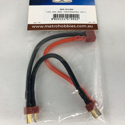 Metro Hobbies Y-Lead - Serial - Deans - 12AWG Silicone Wire - 12cm (1pce)