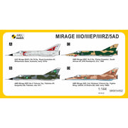 Mark I Models 1/144 Dassault Mirage IIIO/EP/RZ/5AD Worldwide Service RAAF