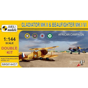 Mark I Models 14457 1/144 Gloster Gladiator Mk.II & Bristol Beaufighter Mk.IC/Mk.VIF North Africa*