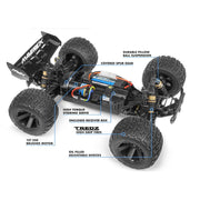Maverick MV150105 1/10 Quantum XT 4WD Brushed Electric Truggy (Blue/Black)