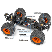 Maverick MV150200 1/10 Quantum MT 4WD Flux Brushless Electric Monster Truck (Blue/Orange)