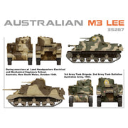 MiniArt 35287 1/35 Australian M3 Lee with Interior Plastic Model Kit