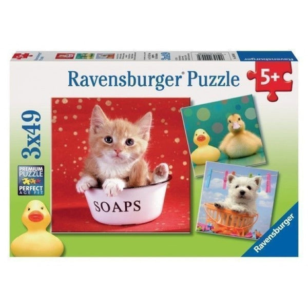 Ravensburger 3x49pc Funny Animal World Puzzle