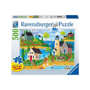 Ravensburger 14874-5 500pc Summer by the Sea Large Format Puzzle