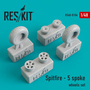 Res/Kit 48-0104 1/48 Spitfire - 5 Spoke Wheels Set