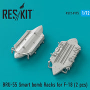 Res/Kit 72-0175 1/72 BRU-55 Smart bomb Racks for F-18 (2 pcs)