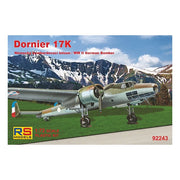 RS Models 92243 1/72 Dornier 17 K Plastic Model Kit