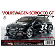 Tamiya 47452 1/10 Volkswagen Scirocco GT 4WD High Performance RC Car TT-01 Chassis Type E Black Painted Body and Tinted Windows