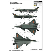 Trumpeter 01663 1/72 CHN J-20 Mighty Dragon Stealth