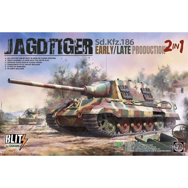 Takom 8001 1 35 Jagdtiger Sd Kfz 186 Early Late Production 2in1 Metro Hobbies