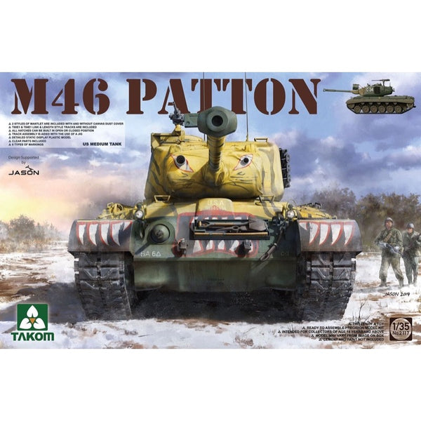 Takom 1/35 US Medium Tank M-46 Patton TAK-2117 4897051421443