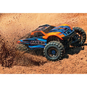 Traxxas Maxx 4S 1/10 RC Truck with LED Light Kit (Orange) 89076-4