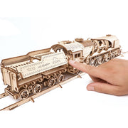 Ugears 70037 V-Express Steam Train and Tender