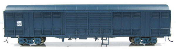 Auscision HO NLV-4 KLY Louvered Van State Rail PTC Blue 4 Car Pack