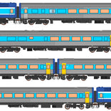 Auscision HO XPT-6 XPT 7 Car Set RailCorp Livery