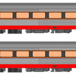 Auscision HO XPT-11 Passenger Car Add on Set State Rail Authority Livery 2 Car Pack