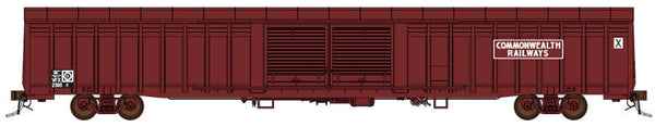 Auscision HO SLV-2 ABFX Louvered Van Commonwealth Railways Maroon 4 Car Pack